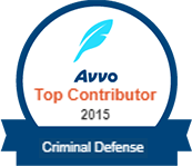 Avvo Top Contributor - Criminal Defense 2015